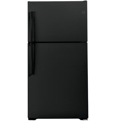 GE  GIE22JTNRBB Top Freezer Refrigerator Black, Main Image