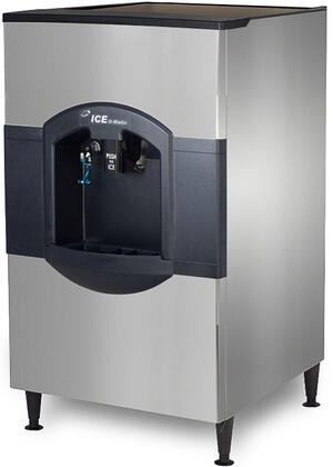 Ice-O-Matic  CD40130 Ice Bins and Dispenser Stainless Steel, Angled View of Front and Side