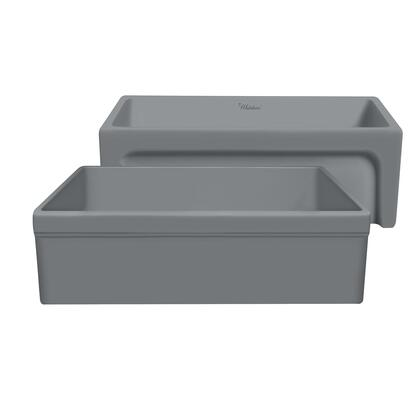 Whitehaus Glencove WHQ5530MCEMENT Sink Gray, WHQ5530 MATTE CEMENT(1)