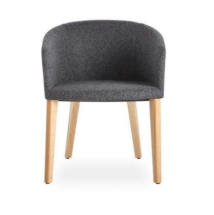Barclay Collection 100-BT-01-W-C-CUZ30 Chair with Wood Base-Dark