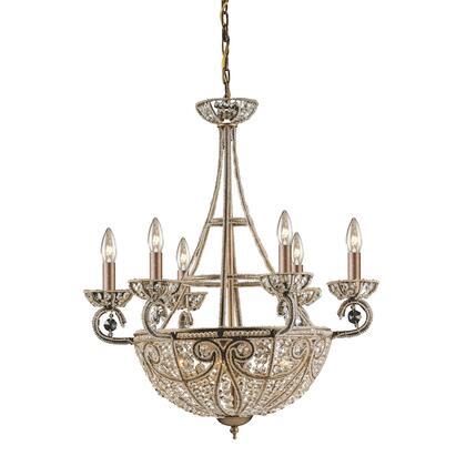 5967/6+4 Elizabethan 10-Light Chandelier in Dark Bronze with 32%