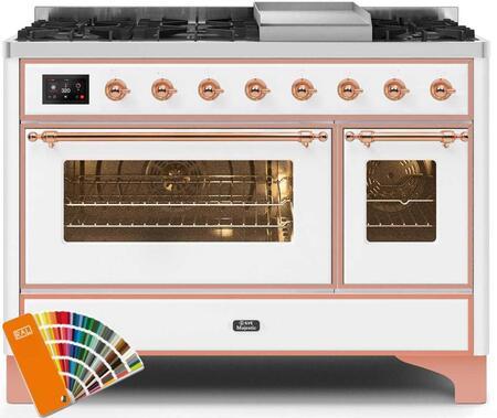 Ilve Majestic II UM12FDNS3RALPLP Freestanding Dual Fuel Range Custom Color, UM12FDNS3RALPLP-Front-CD-A