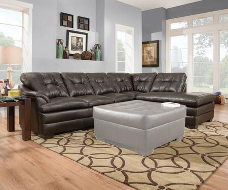 Acme Furniture Edwina 52325 Sectional Sofa Brown, Sectional Sofa