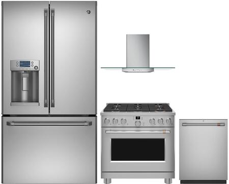 Cafe  1053483 Kitchen Appliance Package Stainless Steel, main image
