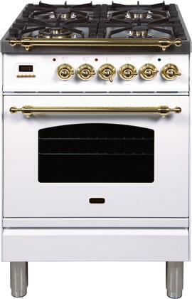 Ilve Nostalgie UPN60DMPBLP Freestanding Dual Fuel Range White, UPN60DMPBLP Liquid Propane Range