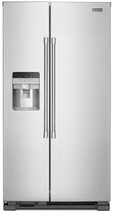 Maytag MSS25C4MGZ Side-By-Side Refrigerator Stainless Steel, Main Image