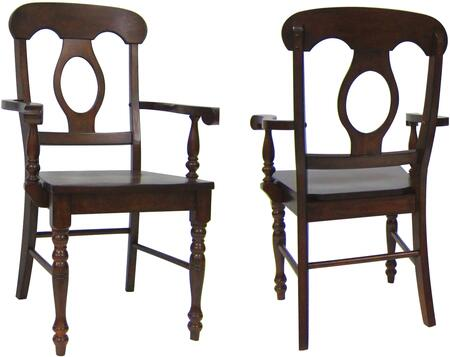 Sunset Trading Andrews DLUADWC50ACT2 Dining Room Chair Brown, DLUADWC50ACT2 Main View