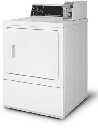 SDESXRGS153TW01 27″ Commercial Rear Control Electric Dryer with 7 cu. ft. Capacity  Reversible Door  220 CFM  in