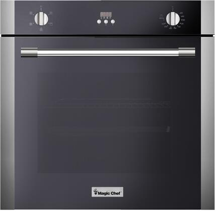 Magic Chef MCSWOE24S Single Wall Oven Stainless Steel, Main Image