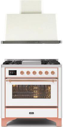 Ilve  1256407 Kitchen Appliance Package White, Main image