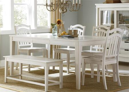 Liberty Furniture Summer Hills 518CD6RTS Dining Room Set White, Main Image