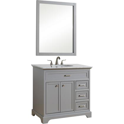 Elegant Decor Americana VF15036GR Sink Vanity Gray, VF15036GR
