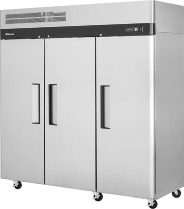 M3R72-3-N 78″ M3 Series Solid Door Reach-In Top Mount Refrigerator with 65.8 cu. ft. Capacity  Self-Cleaning Condenser and Hydrocarbon Refrigerants