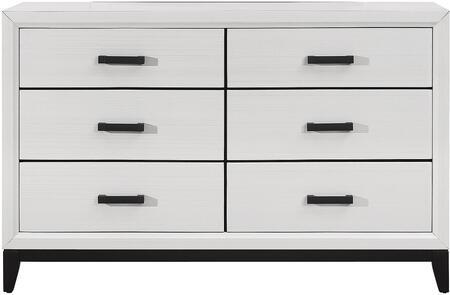 Global Furniture USA Global Furniture USA KATEWHITED Dresser White, KATE WHITE D