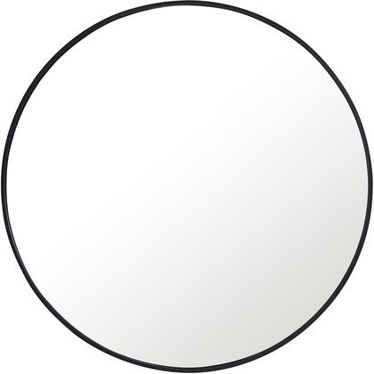 MR4041BK Metal Frame Round Mirror 36″ Black