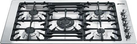 Smeg  PGFU36X Gas Cooktop Stainless Steel, Main Image