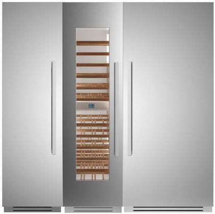 Bertazzoni  1309148 Column Refrigerator & Freezer Set Stainless Steel, 1