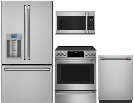 Cafe Matte Collection 1051357 Kitchen Appliance Package Stainless Steel, main image