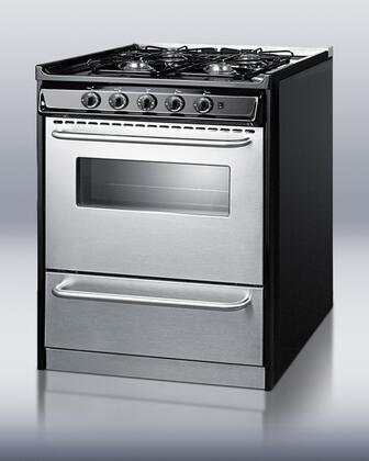 Summit Professional TNM21027BFRWY Slide-In Gas Range Stainless Steel, 1