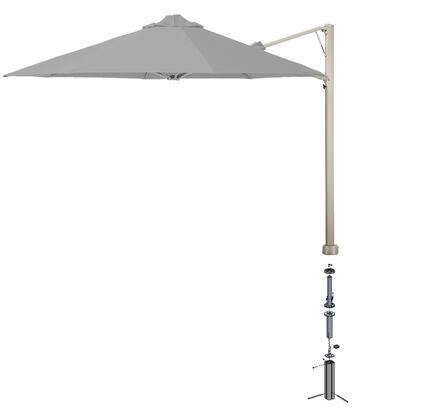 Shadowspec SU6 Series KITP6SQ30UNOGAGREA Outdoor Umbrella Gray, Slate Grey
