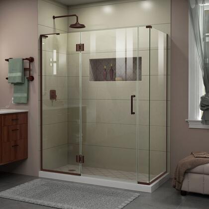 DreamLine  E3270630L06 Shower Enclosure , Unidoor X Shower Enclosure 24HP 30D 6IP 30RP 06
