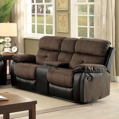Furniture of America Hadley I CM6870LV Loveseat Brown, Main Image