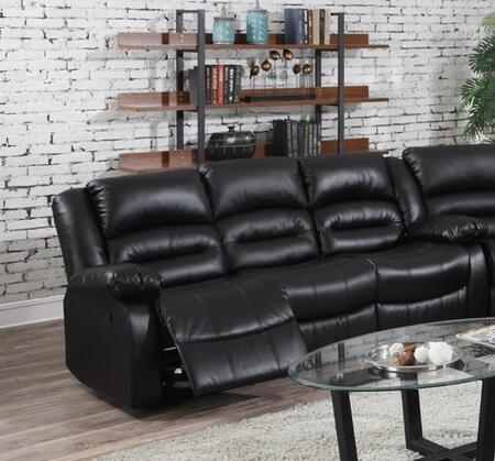 Myco Furniture Branson 1036SBK Motion Sofa Black, Sofa