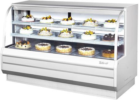 Turbo Air TCGB72WN Display and Merchandising Refrigerator White, TCGB72WN Angled View