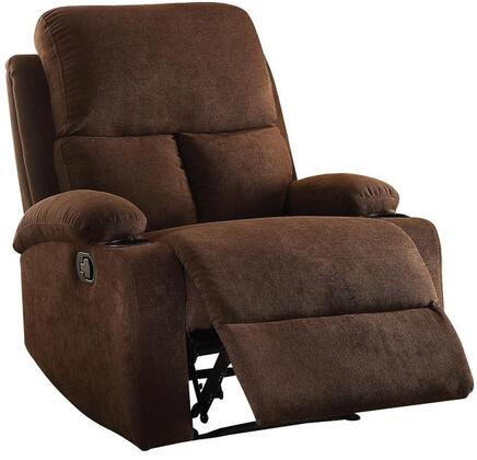 Acme Furniture Rosia 59547 Recliner Chair Brown, 1