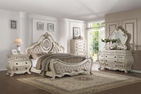 Acme Furniture Ragenardus 27004CKSET Bedroom Set White, Bedroom Set