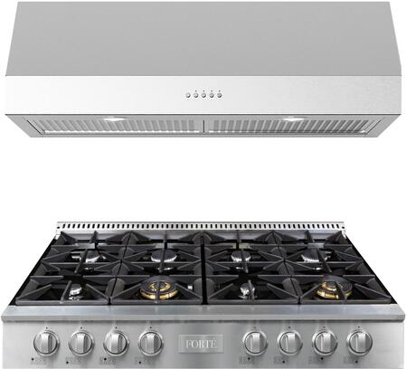 Forte  1458818 Kitchen Appliance Package Stainless Steel, Main image