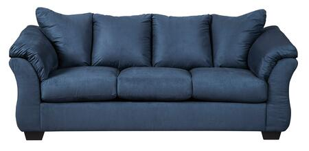 Signature Design by Ashley Darcy 7500738 Stationary Sofa Blue, Main Image
