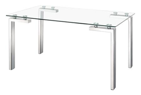 Zuo Roca 102142 Dining Room Table Stainless Steel, 102142 1