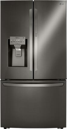 LG  LRFDC2406D French Door Refrigerator Black Stainless Steel, LRFDC2406D French Door Refrigerator