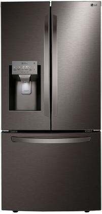 LG  LRFXS2503D French Door Refrigerator Black Stainless Steel, LRFXS2503D Smart French Door Refrigerator
