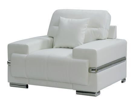 Furniture of America Zibak CM6411WHCH Living Room Chair White, Main Image