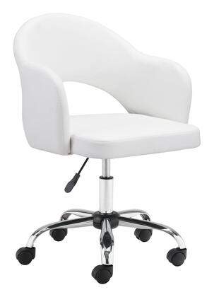 Zuo Planner 101834 Office Chair White, 101834 1