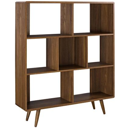 Modway Transmit EEI2529WAL Bookcase Brown, EEI-2529-WAL