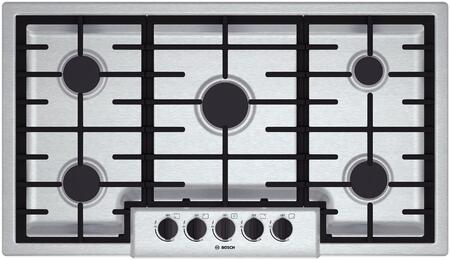 Bosch 500 Series NGM5655UC Gas Cooktop Stainless Steel, 1