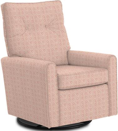 Phylicia Collection 4007-23044 Recliner with 360-Degrees Swivel Glider Metal Base  Removable Back  High Backrest  Zipper Access and Fabric Upholstery