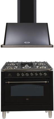 Ilve  1311358 Kitchen Appliance Package Black, Main Image