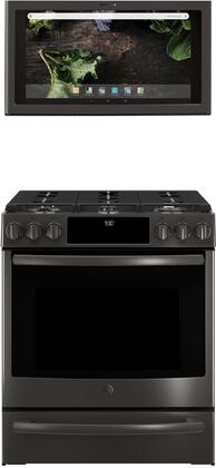 GE Profile 1077264 Kitchen Appliance Package & Bundle Black Stainless Steel, main image