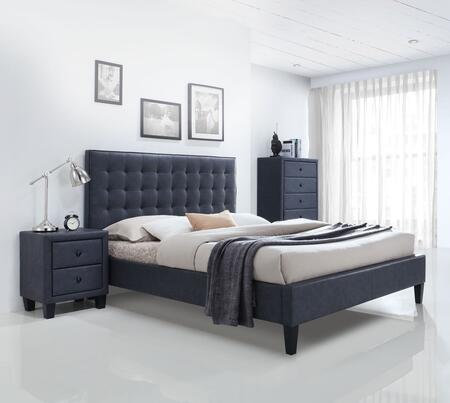 Acme Furniture Saveria 25660Q3SET Bedroom Set Gray, 3 PC Bedroom Set