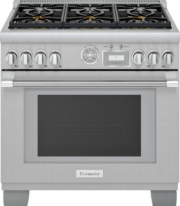Thermador Pro Grand PRG366WG Freestanding Gas Range Stainless Steel, PRG366WG 36-Inch Commercial Depth Gas Range