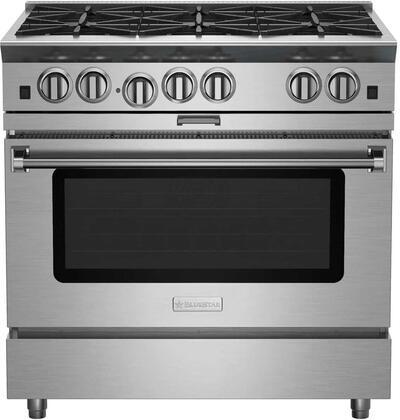 "BlueStar Platinum BSP366BLPLT Freestanding Gas Range Stainless Steel, 36"" Platinum Series Range"