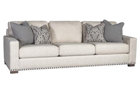 """Marty Collection 397101F10-S-TTB 106.5"""" Sofa with Decorative Pillows Stone Nails Block Feet Track Arms Removable Cushions Fabric Upholstery in"""
