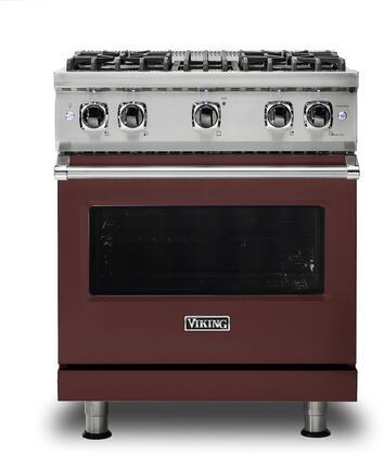 Viking 5 Series VGR5304BKA Freestanding Gas Range Red, VGR5304BKA Gas Type