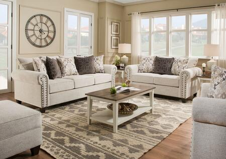 Lane Furniture Della 9175BR03SET Living Room Set White, 4 PC Set