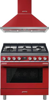 Smeg  930918 Kitchen Appliance Package Red, 1