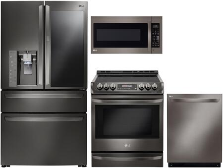 LG 1096954 Kitchen Appliance Package & Bundle Black Stainless Steel, main image